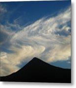 Dancing Clouds Above Volcanic Peak Metal Print