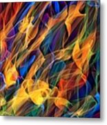Dancing Flames Metal Print