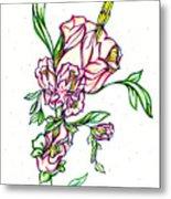Dancing Flowers Metal Print