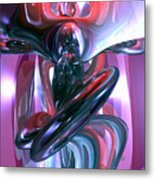 Dancing Hallucination Abstract Metal Print