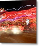 Dancing Light Streaks-2 Metal Print