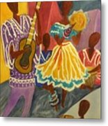 Dancing N Jammin In The Street  Abstract  Metal Print