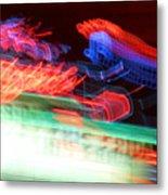 Dancing Neon Metal Print