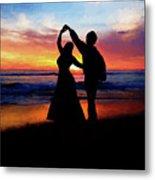 Dancing On The Beach - Painting Metal Print