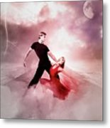 A Passionate Pair Dance In The Middle Of Nowhere, Who Embody The Strength And Subtlety Metal Print