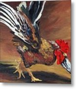 Dancing Rooster  Metal Print