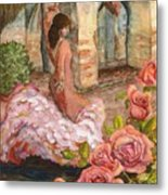 Dancing Rose Metal Print