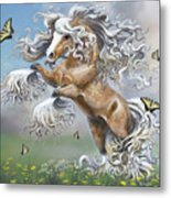 Dancing With Butterflies Metal Print