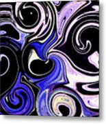 Dancing With The Swans Abstract Metal Print