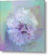 Dandelion In Pastel Metal Print