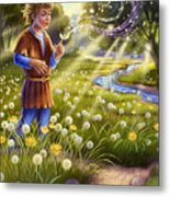 Dandelion - Make A Wish Metal Print