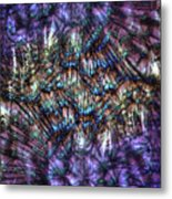 Dandelion Seeds Abstract Metal Print