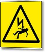 Danger Electricity Metal Print
