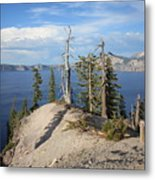 Dangerous Slope At Crater Lake Metal Print