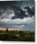 Dangerous Stormy Clouds Over Warsaw Metal Print