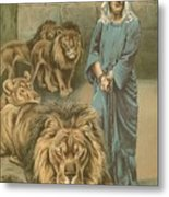 Daniel In The Lions Den Metal Print by John Lawson