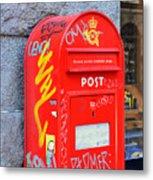 Danish Mailbox Metal Print