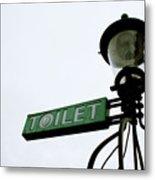 Danish Toilet Sign Metal Print