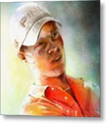 Danny Willett In The Madrid Masters Metal Print