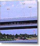 Danube River Bridges Metal Print
