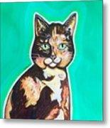 Daphne The Calico Cat Metal Print