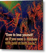 Dare To Love Yourself On National Selfie Day Metal Print