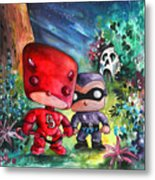 Funkos Daredevil And The Phantom In The Jungle Metal Print