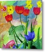 Daria's Flowers Metal Print