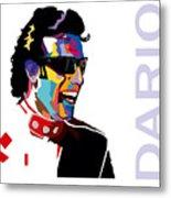 Dario Franchitti Pop Art Style Metal Print