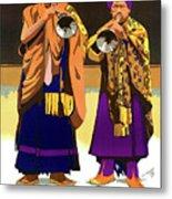 Darjeeling, Lama Dance Musicians, India Metal Print