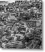 Darjeeling Monochrome Metal Print