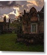 Dark Cambodian Temple Metal Print