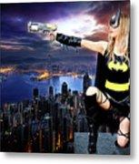 Dark City Of The Bat Metal Print