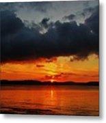 Dark Cloud Sunrise Metal Print