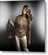 Dark Fashion Style With Fashionable Bag Accessory Metal Print