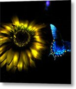 Dark Glow Butterfly Metal Print