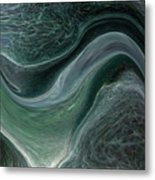 Dark Green Flow Metal Print