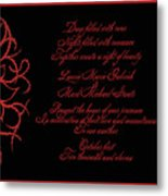 Dark Nights Bright Days Wedding Invitaion Metal Print