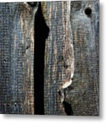 Dark Old Wooden Boards With Shadow Metal Print