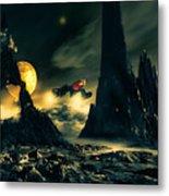 Dark Planet Metal Print