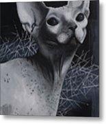 Darkness Cat Metal Print