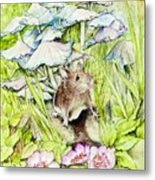 Darling Mouse Metal Print