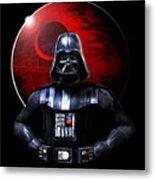 Darth Vader And Death Star Metal Print