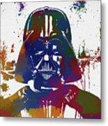Darth Vader Paint Splatter Metal Print