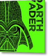Darth Vader - Star Wars Art - Green Metal Print