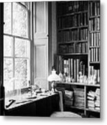 Darwins Study And Microscope, Down House Metal Print