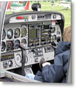 Dashboard Of A Robin Dr400 President Metal Print