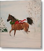Dashing Thru The Snow Metal Print