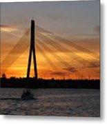 Daugava Sunset. Riga. Latvia Metal Print