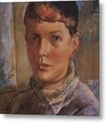 Daughter Of The Artist 1933 Kuzma Sergeevich Petrov-vodkin Metal Print